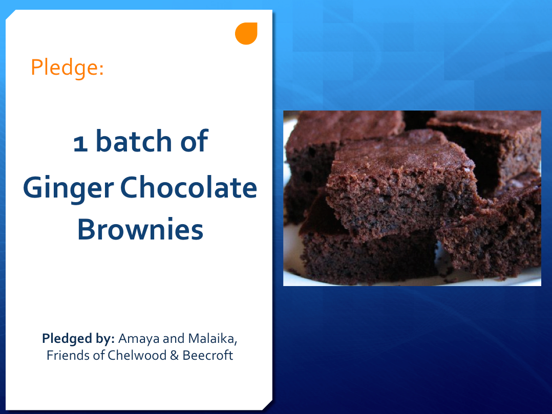 Ginger brownies