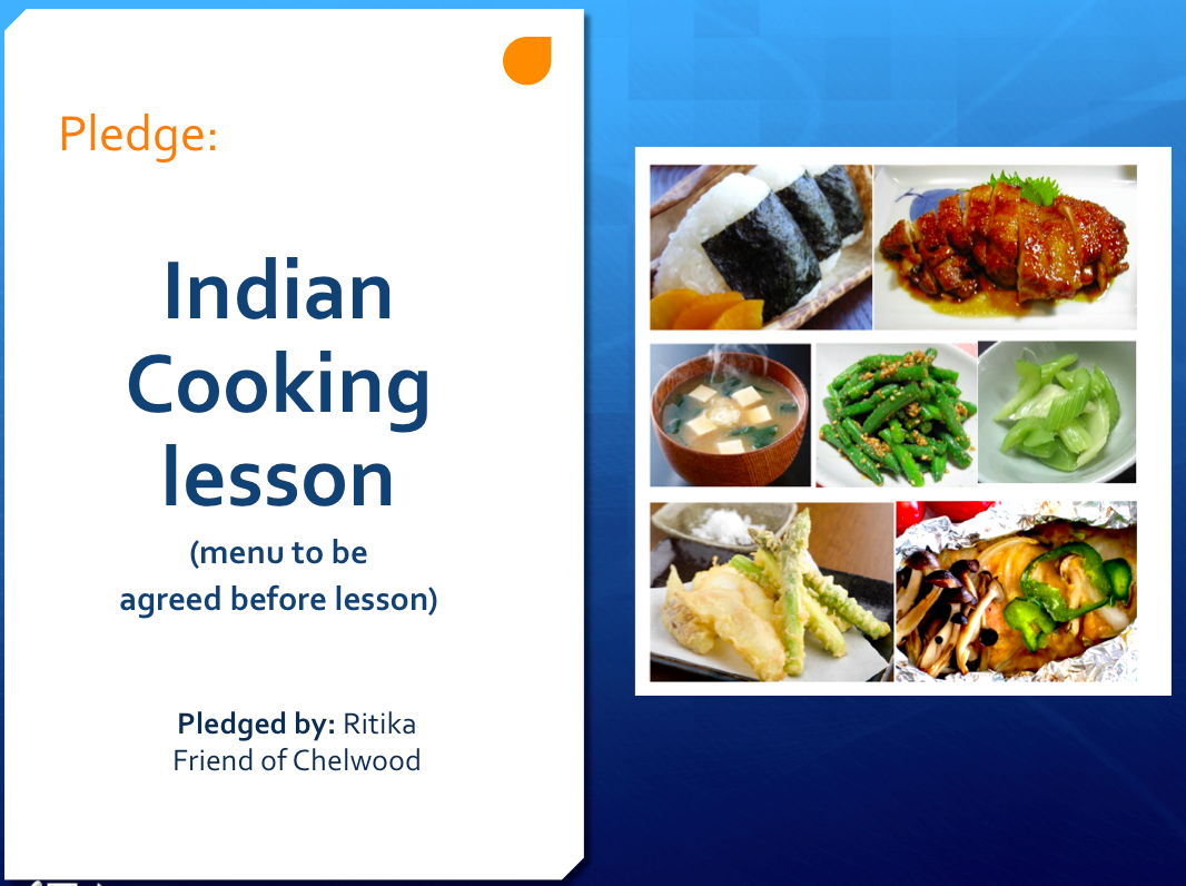 Indian cooking lesson